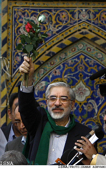 Mir Hossein Moussavi, lors d'un rasemblement à Ispahan